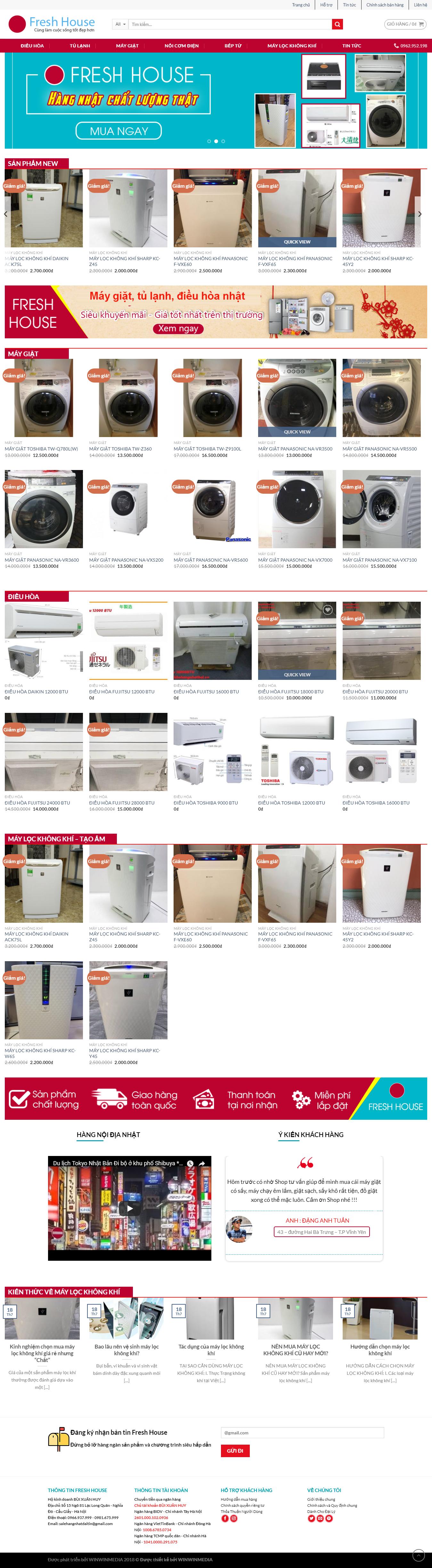 Mẫu website bán hàng bãi Nhật