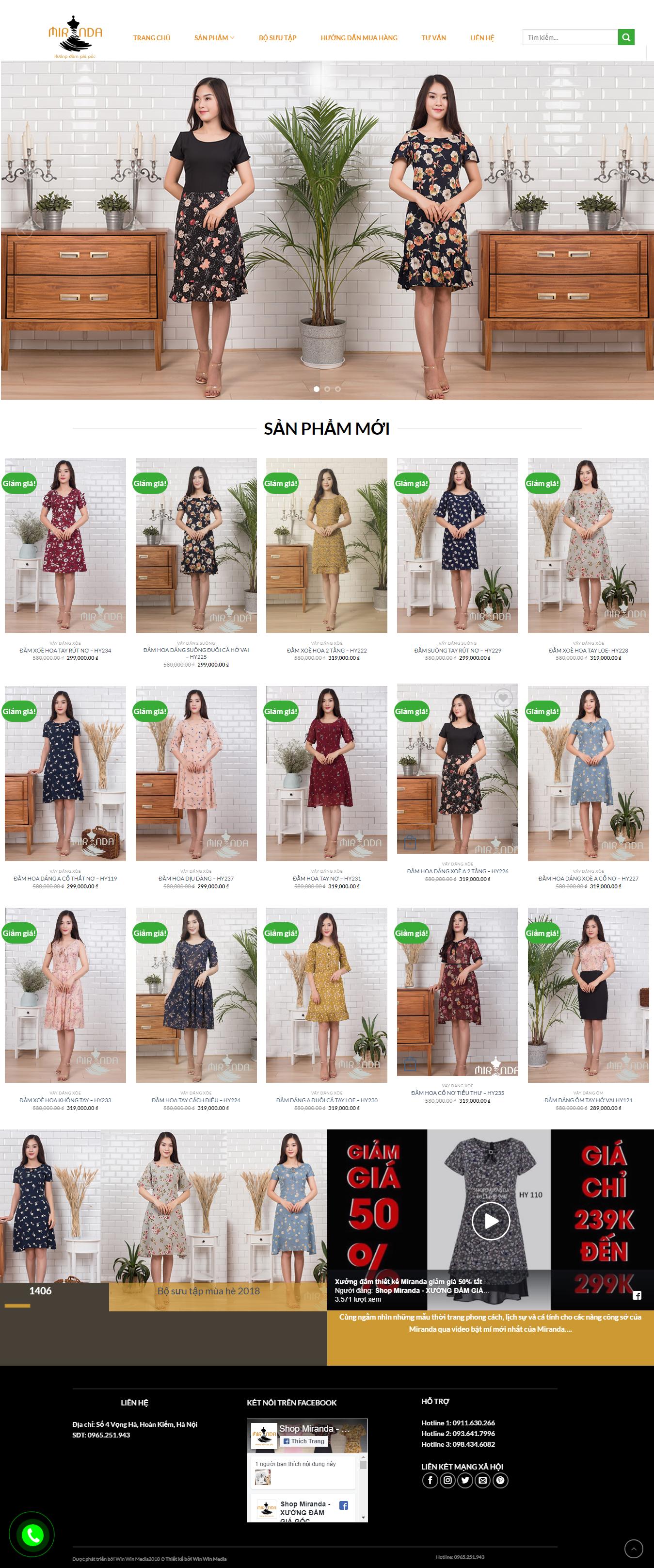 Mẫu website thời trang