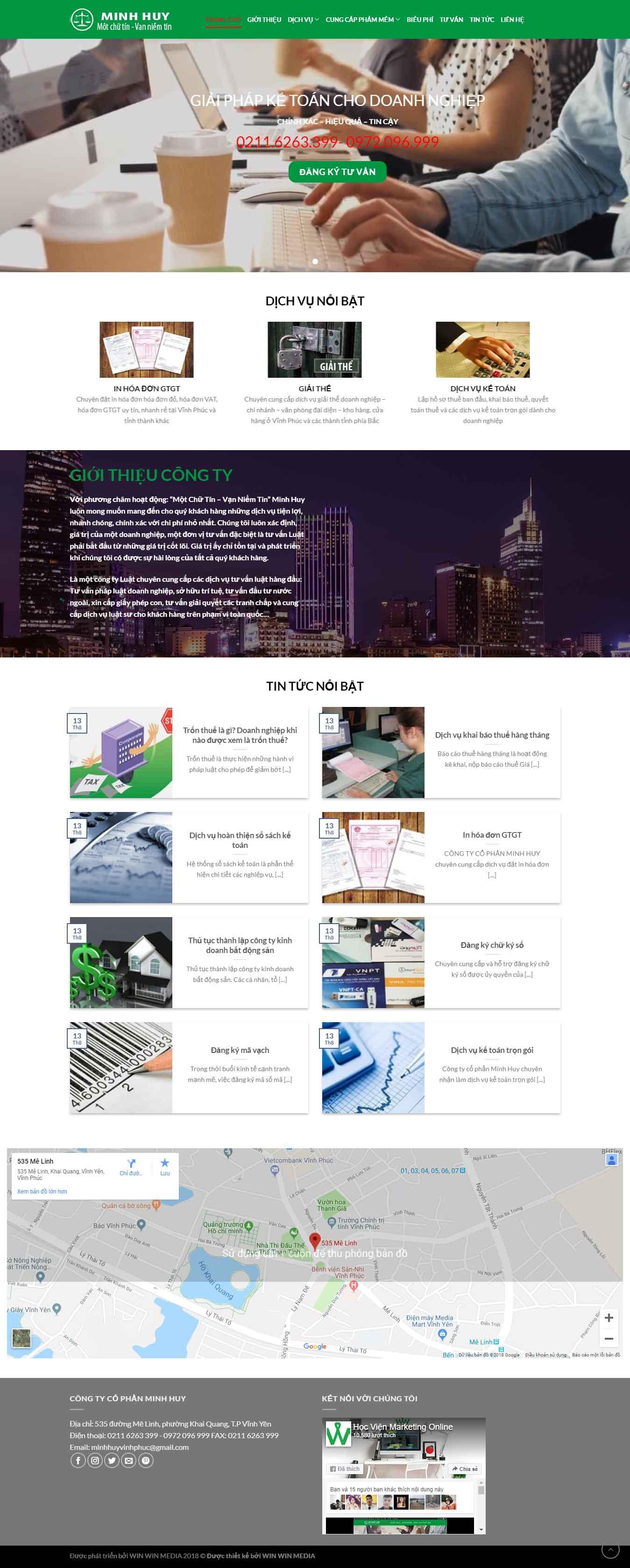 Mẫu website giới thiệu công ty