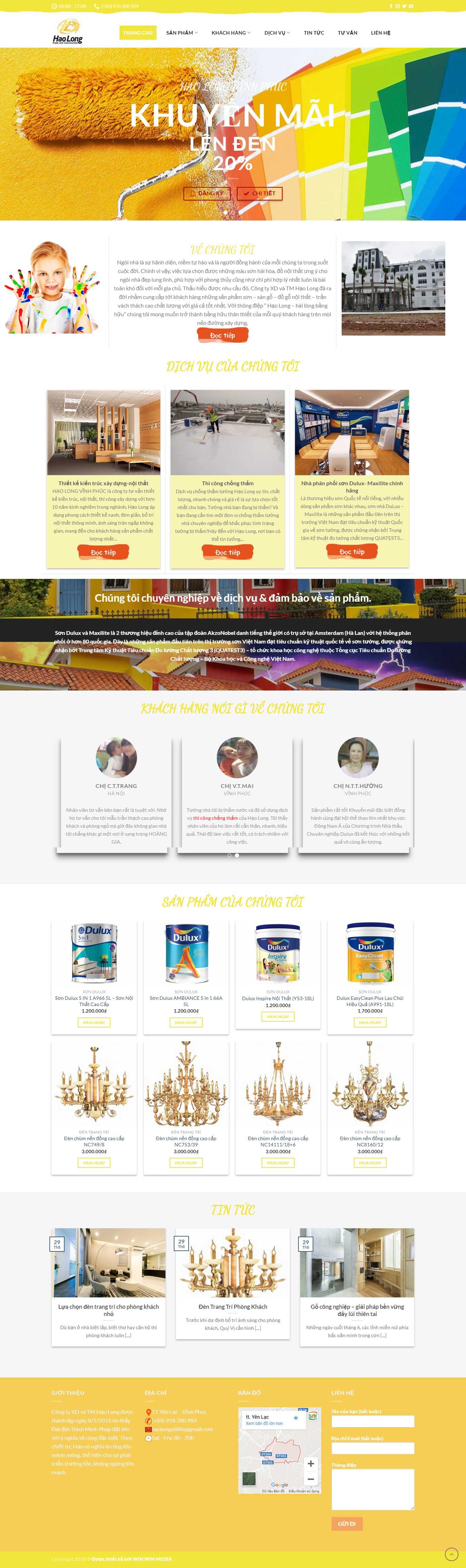 Thiết kế website Hạo long tại Yên Lạc – Vĩnh Phúc