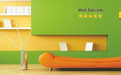 Mẫu website bán sơn