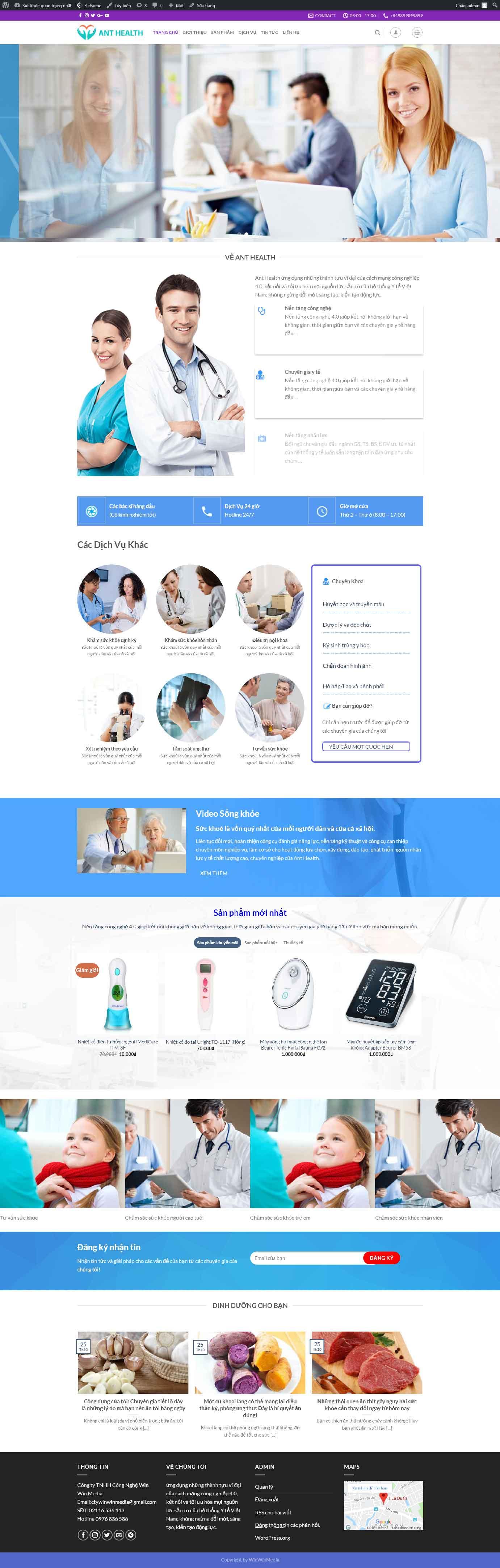 Mẫu website phòng khám y tế