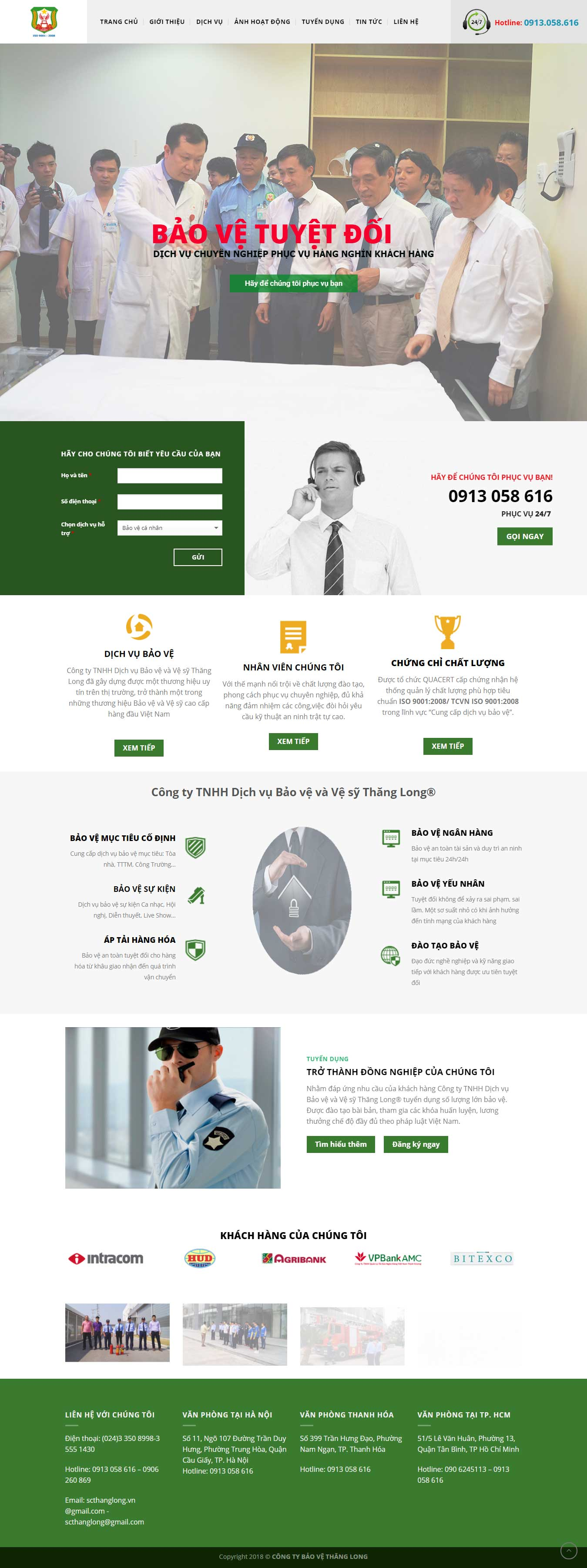 Mẫu website vệ sỹ