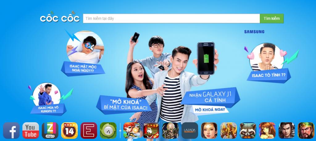 Quảng cáo Browser Skin Cốc Cốc