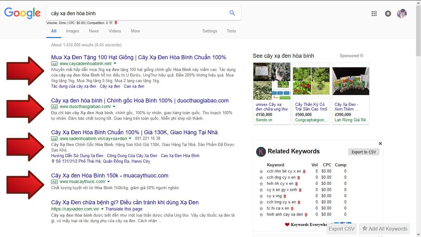 Quảng cáo Google Ads mạng tìm kiếm