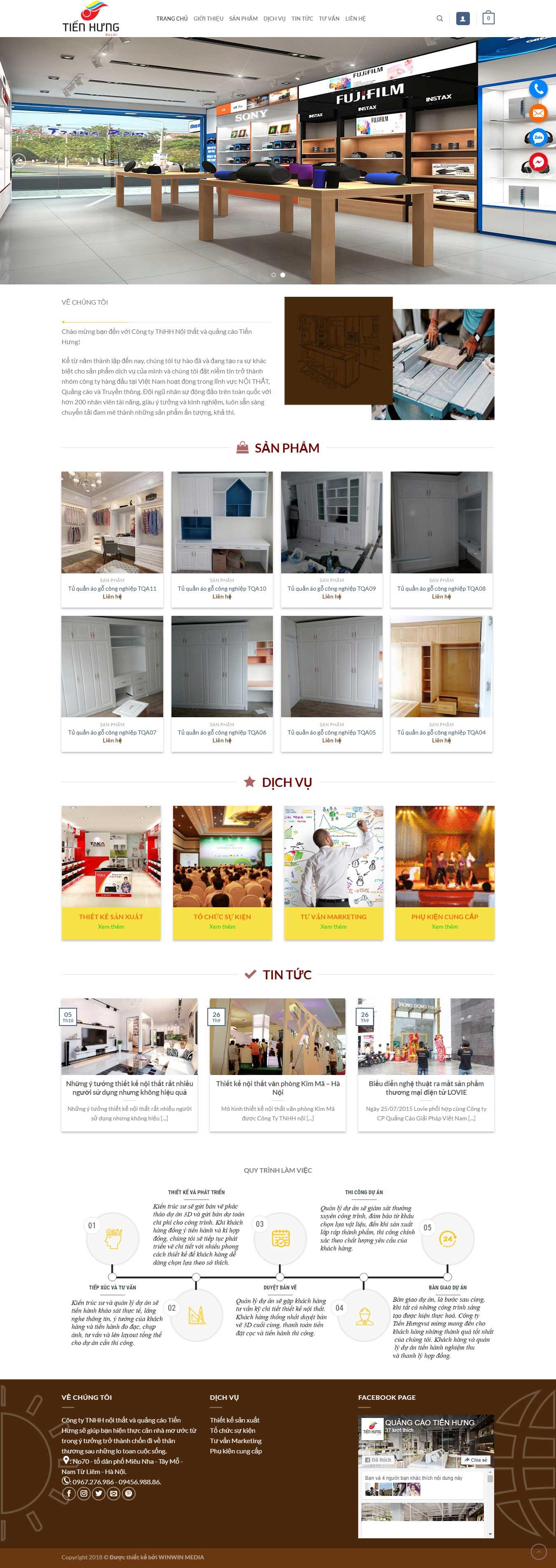 Thiết kế website Quảng Cáo Tiến Hưng tại Hà Nội