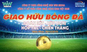 Giao hữu bóng đá công ty Win Win Media và công ty Bách Khoa Việt Nam