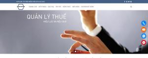 Mẫu website đại lý thuế an tâm view 1