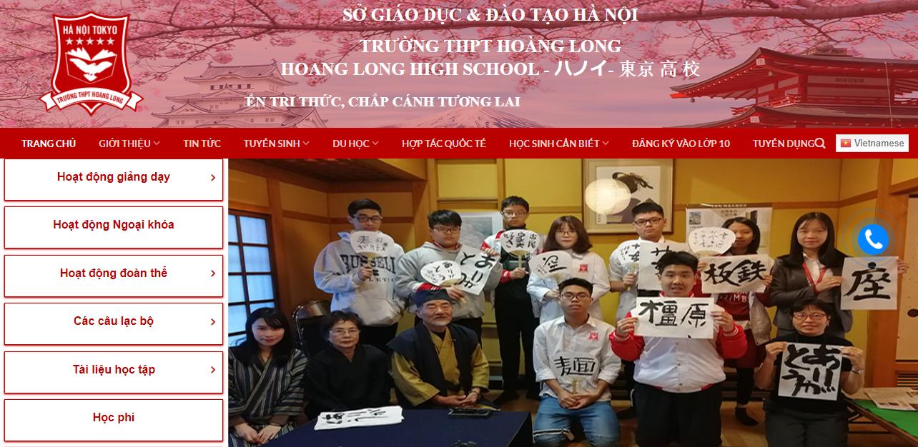 Thiết kế web chạy quảng cáo google facebook cho THPT Hoàng Long