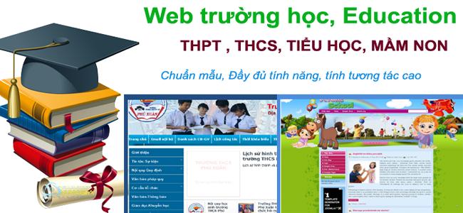 Mẫu website trường học