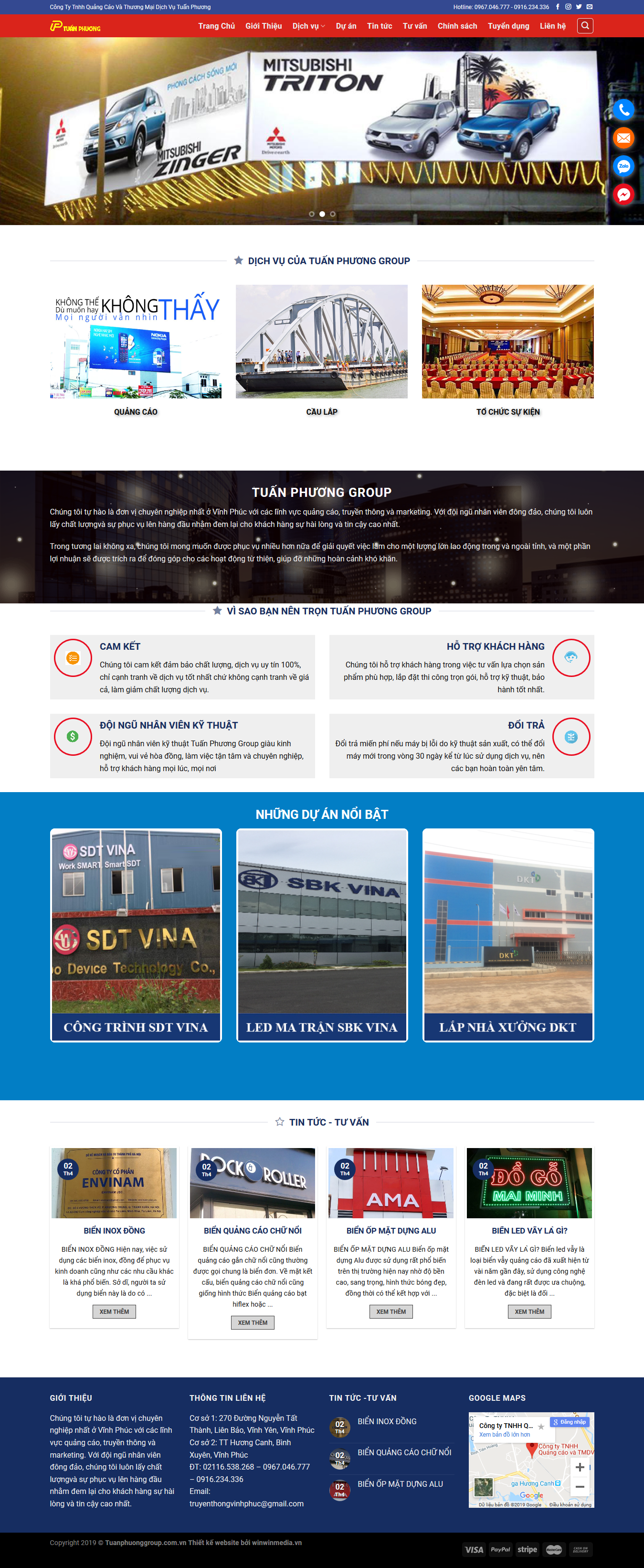 Mẫu website in ấn quảng cáo Tuấn Phương 1