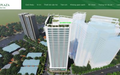 Mẫu website bất động sản An Bình Plaza