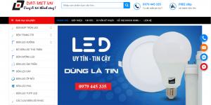 Thiết kế website đèn Led Đất Việt