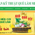 Thiết kế website nông sản Quế Lâm view 2