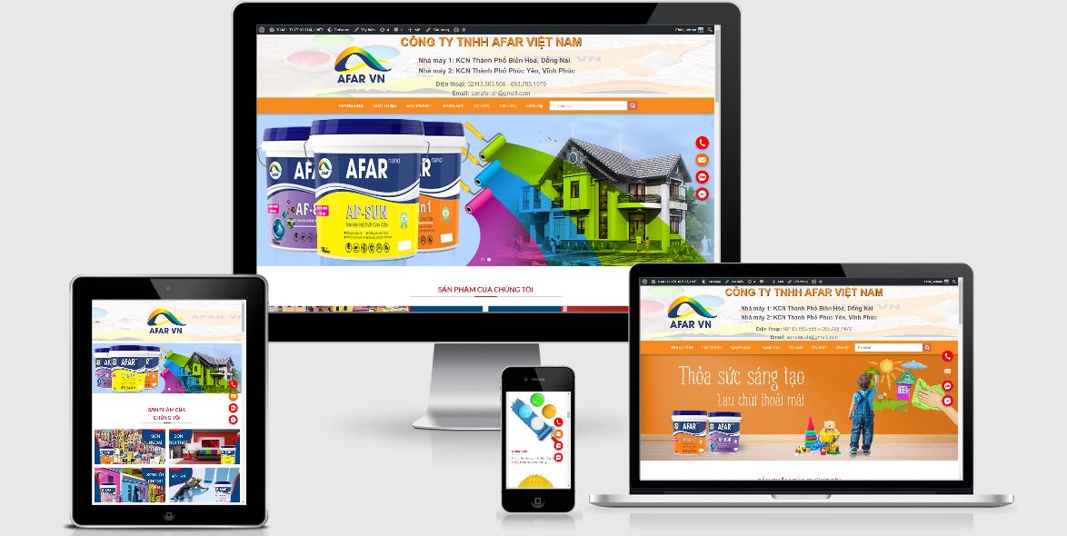 Mẫu website Sơn AFAR nano Việt Nam