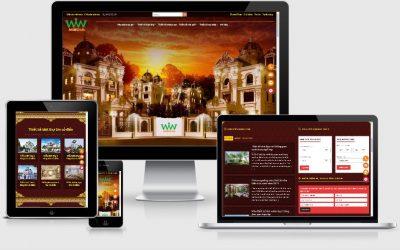 Mẫu website kiến trúc xây dựng chức năng xem tuổi xây dựng, hướng nhà, dự toán công trình