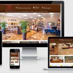 Mẫu website sàn gỗ Thiên Mộc