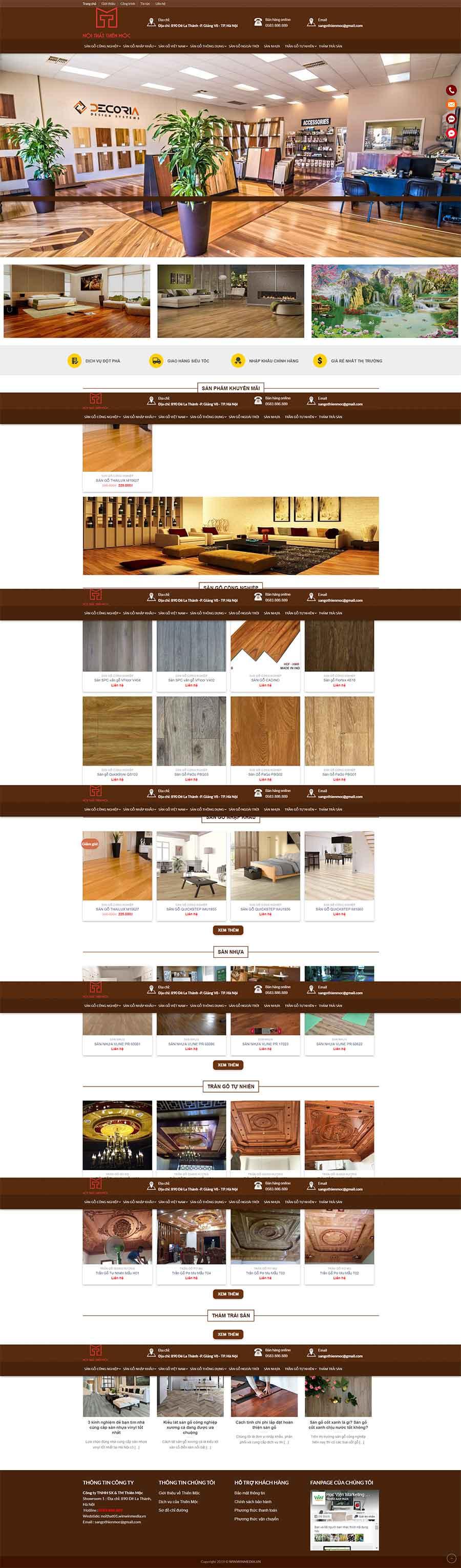 Mẫu website sàn gỗ Thiên Mộc view 4