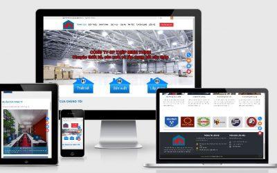Mẫu website thiết kế thi công nhà xưởng