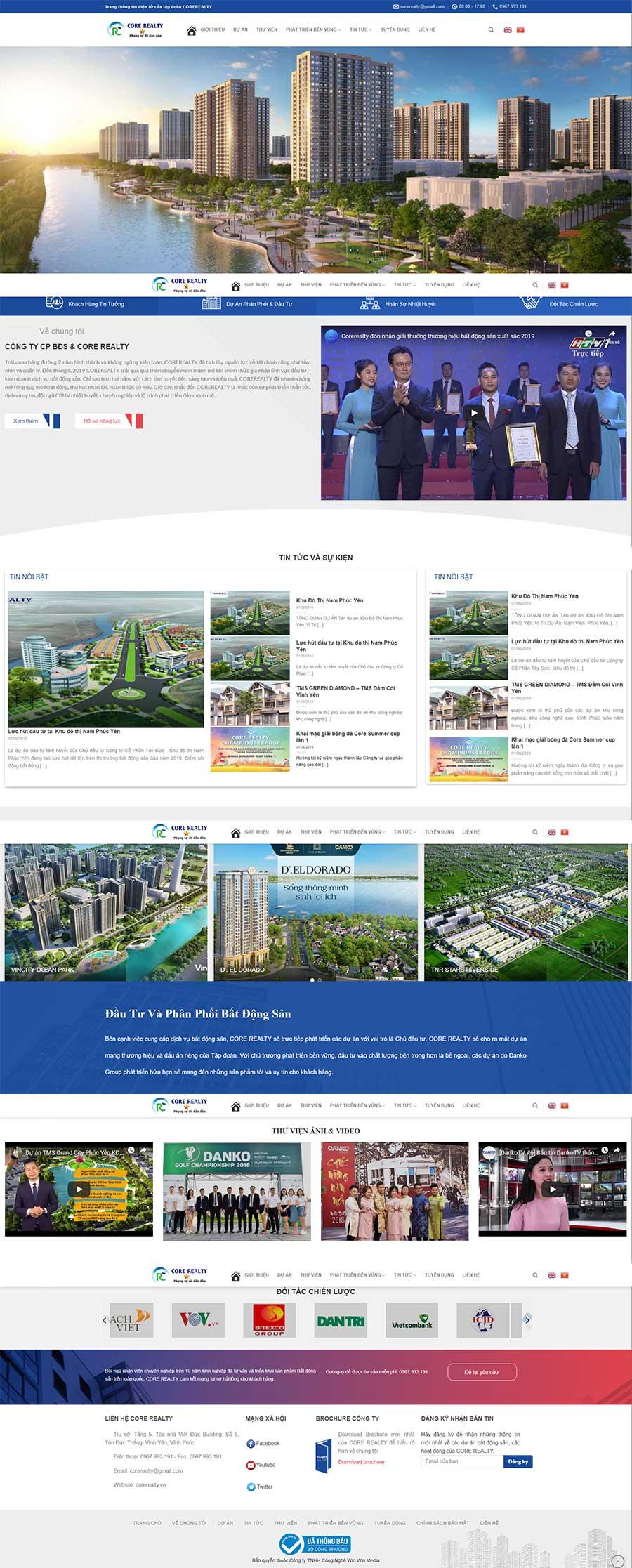 Mẫu website bất động sản siêu đẹp view 1