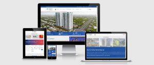 Mẫu website bất động sản siêu đẹp view 2