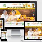 Mẫu website bán hàng Tinh Bột Nghệ Tam Đảo