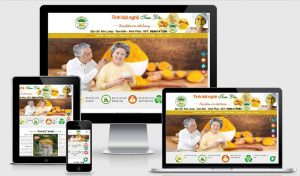 Mẫu website Tinh Bột Nghệ Tam Đảo