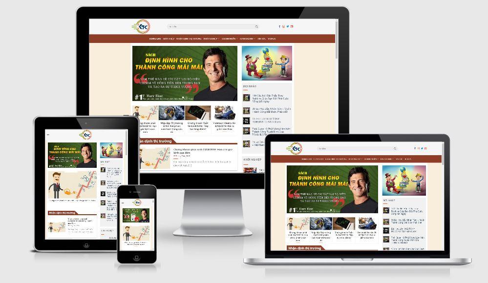 Thiết mẫu website xây dựng thương hiệu cá nhân