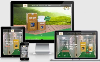 Mẫu website thực phẩm bảo vệ sức khỏe viên khớp Đại Lợi