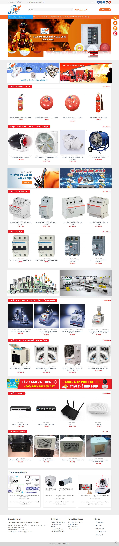 Mẫu website cung cấp thiết bị công nghiệp và PCCC