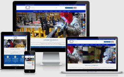 Thiết kế Website công ty gia công Cơ Khí Tam Hợp