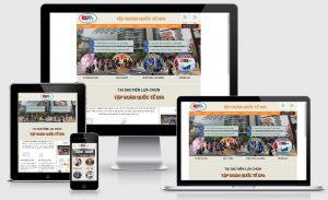 Mẫu web du học xuất khẩu lao động