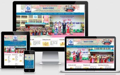 Thiết kế web Trường THPT Nhân Chính  – Thanh Xuân Hà Nội