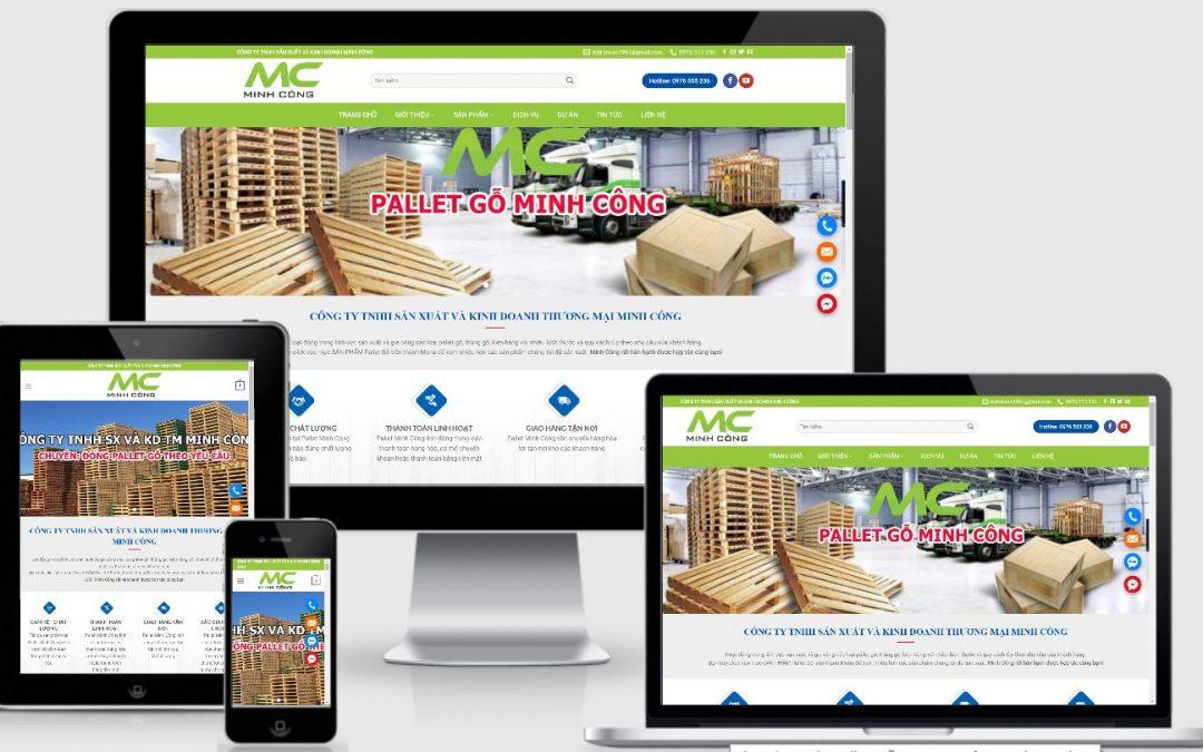 Thiết kế web pallet gỗ – pallet nhựa Minh Công