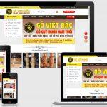 Thiết kế web bán đồ gỗ Việt Bắc