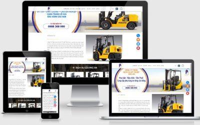 Thiết kế mẫu web cho thuê xe nâng tại Vĩnh Phúc
