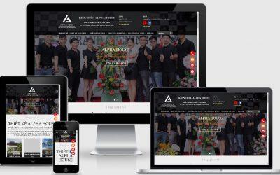 Thiết kế mẫu web kiến trúc theo yêu cầu ALPHA HOUSE