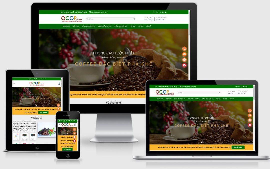 Mẫu web công ty tư vấn ocop Việt Nam