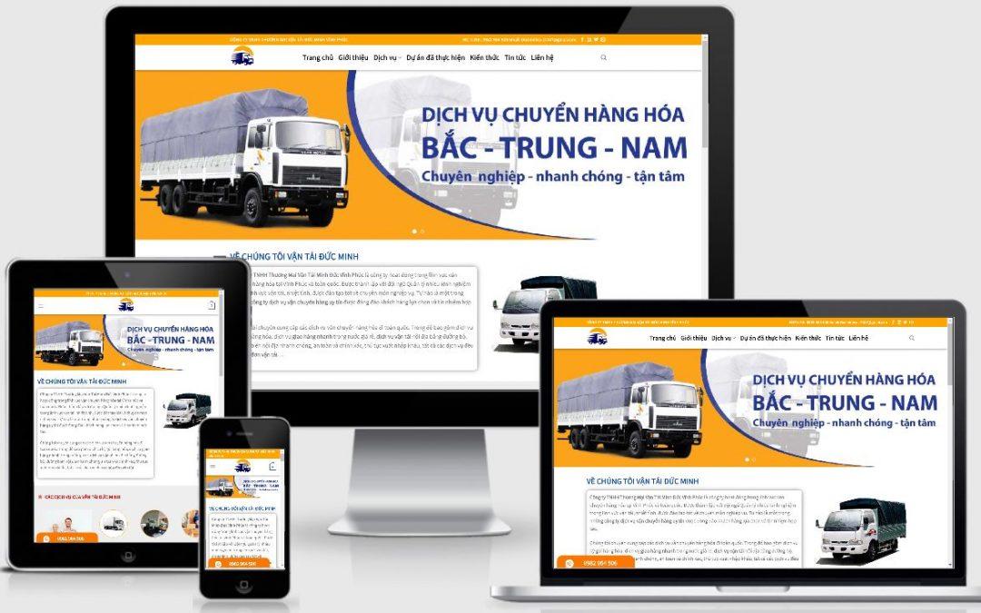 Thiết kế mẫu web dịch vụ vận tải Đức Minh Vĩnh Phúc