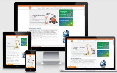 Thiết kế web cho thuê xe thang nâng người tại Vĩnh Phúc
