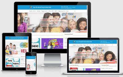 Thiết kế web trung tâm tiếng anh ENGLISH EZGAME CENTER