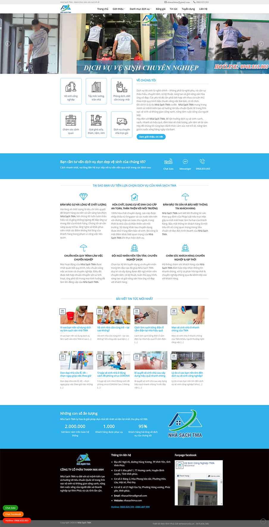 Mẫu web vệ sinh công nghiệp nhasachtma.com