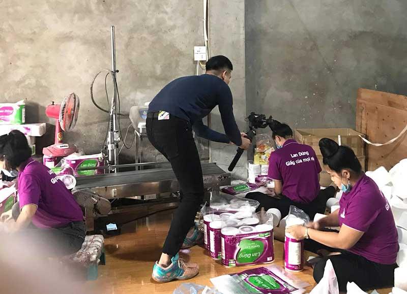 Quay video quảng cáo sản phẩm cho Giấy Lan Dũng tại Bắc Ninh