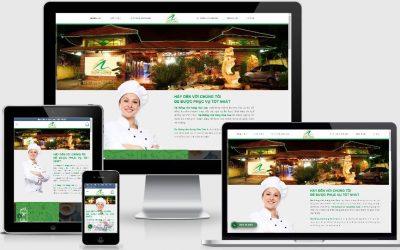 Thiết kế Web hệ thống nhà hàng Hoa Cau Vĩnh Phúc