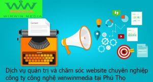 quản trị phát triển nội dung website tại Phú Thọ