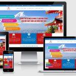 Thiết kế web du học và xuất khẩu lao động Sen Vàng