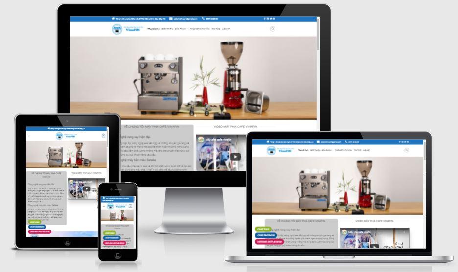 Thiết kế mẫu web bán máy pha cafe (cà phê)