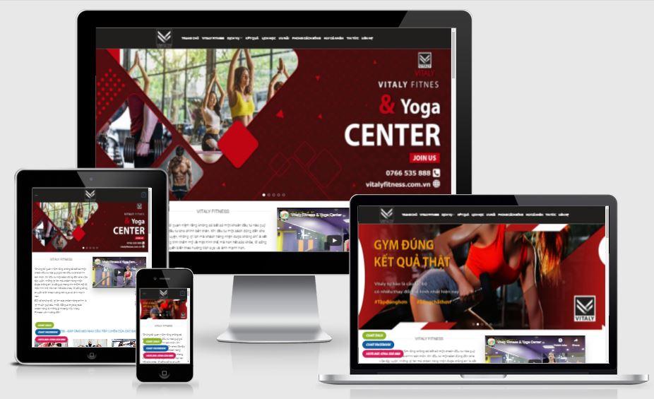 Thiết kế mẫu web Trung tâm Gym Vitaly Fitness & Yoga Center