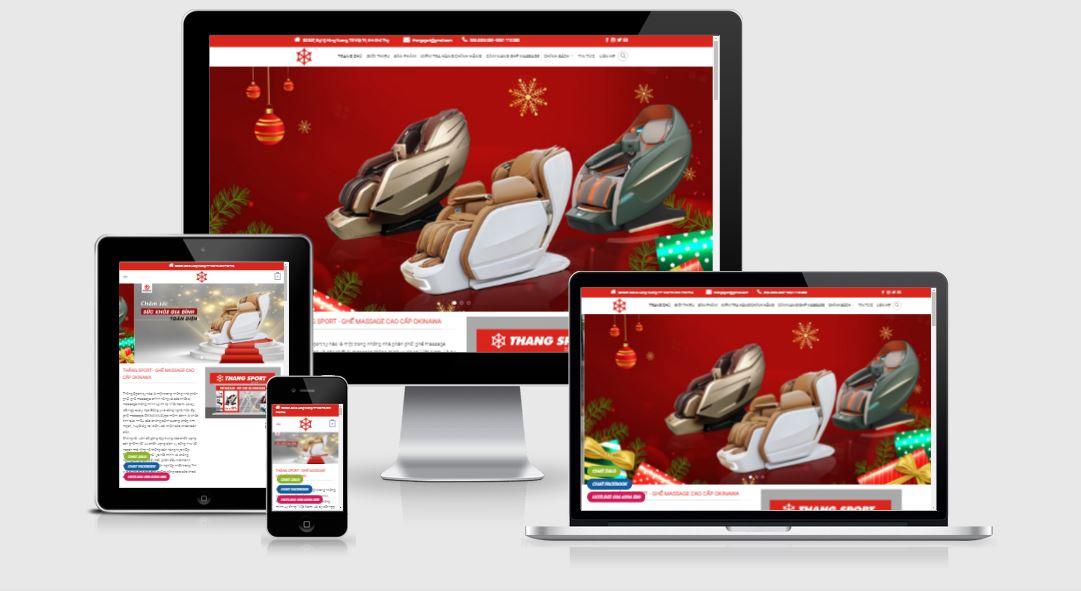 Thiết kế mẫu web kinh doanh ghế Massage