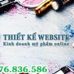 Thiết kế website shop mỹ phẩm tại Vĩnh Phúc